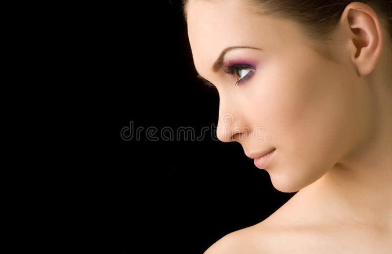 Young beautiful woman's portrait royalty free stock photos