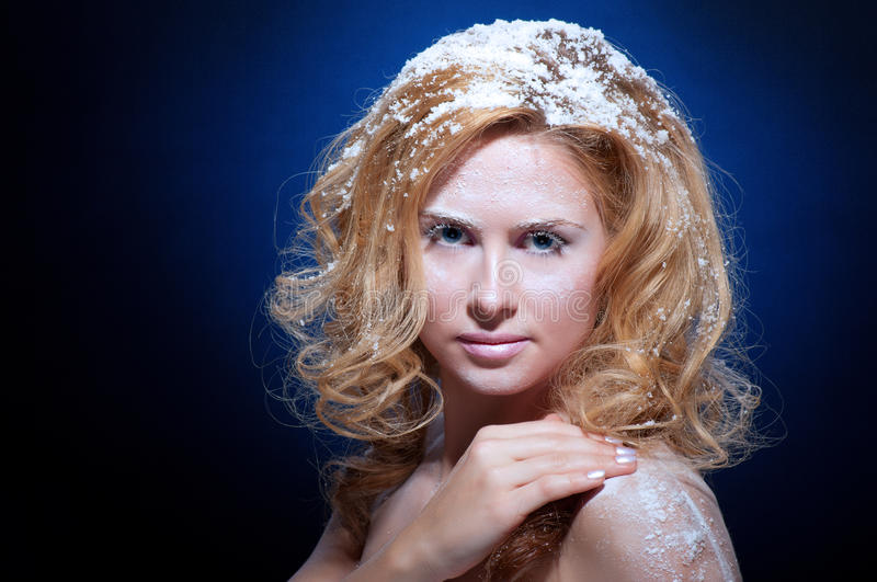 Download Young Beautiful Woman With Snowy Skin Stock Photo - Image: 22225458