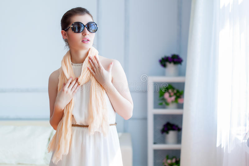 Download Young Beautiful Woman In Sunglasses Stock Photos - Image: 33474483