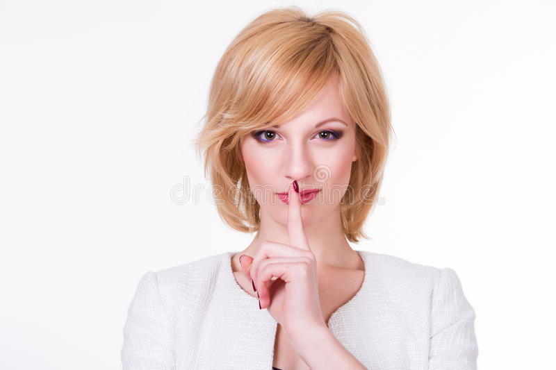 Young beautiful woman thinking looking to the side at blank copy space, isolated over white background royalty free stock photos