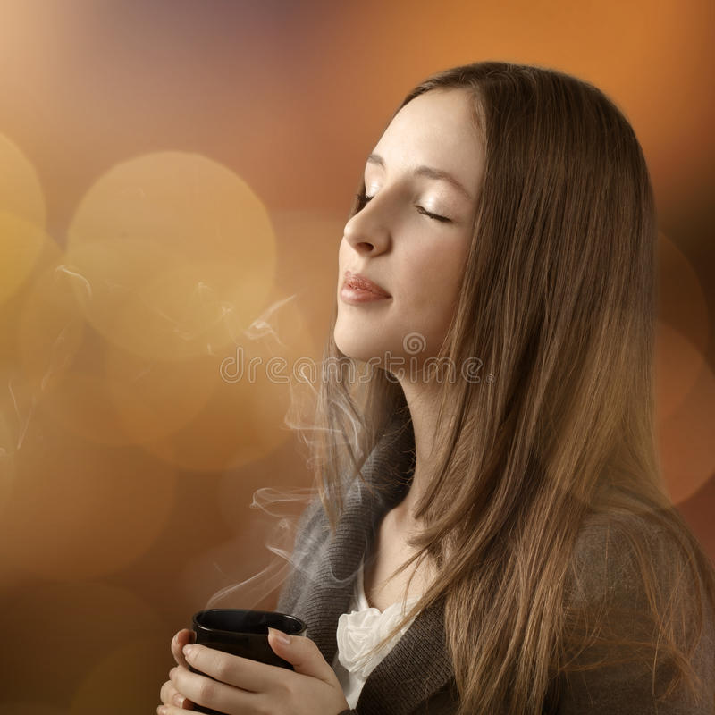 Free Young Beautiful Woman With Her Eyes Closed Stock Photos - 37352353