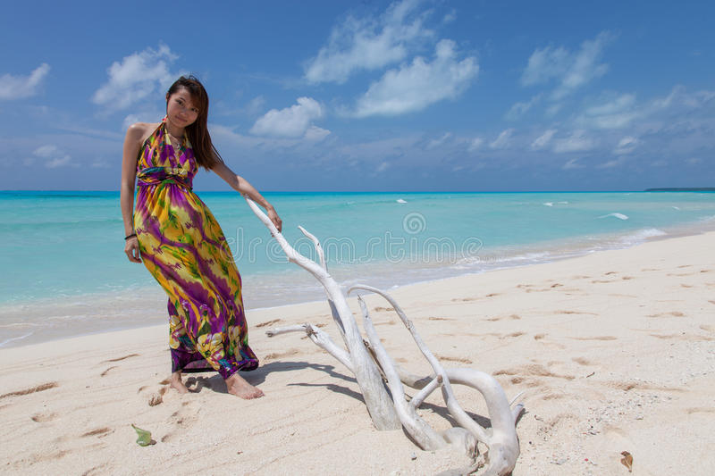 Download Young Beautiful Women On The Sunny Tropical Beach Stock Photo - Image: 27237860