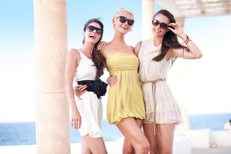 Young beauty friends stock photo