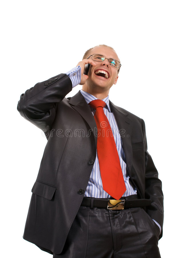 Young beauty men talking by a phone. stock photos