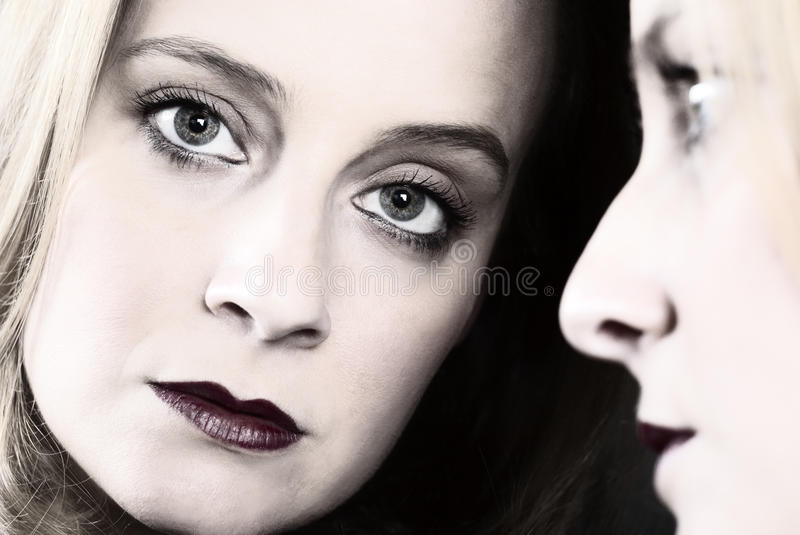 Download Young beauty in a mirror stock image. Image of luxury - 39785897