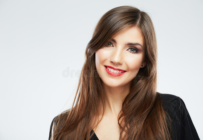 Young Beauty Model With Long Hair Stock Photo