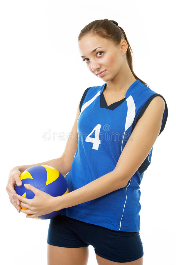 Download Young, Beauty Volleyball Player Stock Image - Image: 12506883