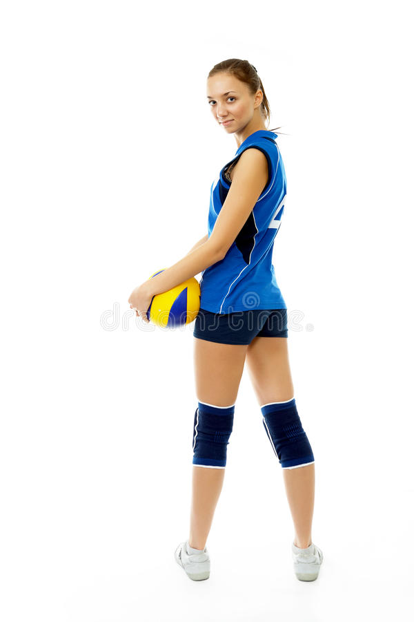 Download Young, Beauty Volleyball Player Stock Image - Image: 12507559