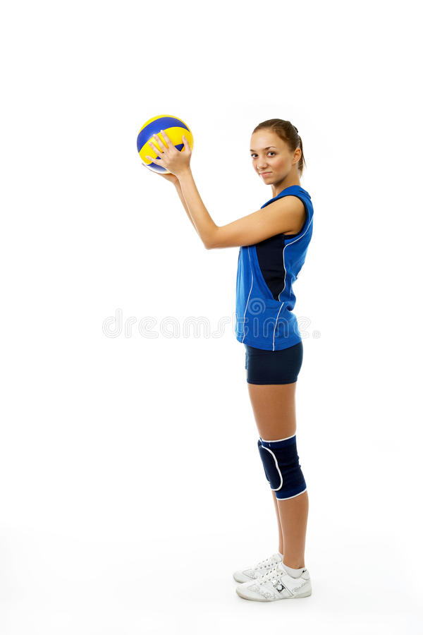 Download Young, Beauty Volleyball Player Stock Photo - Image: 13172010