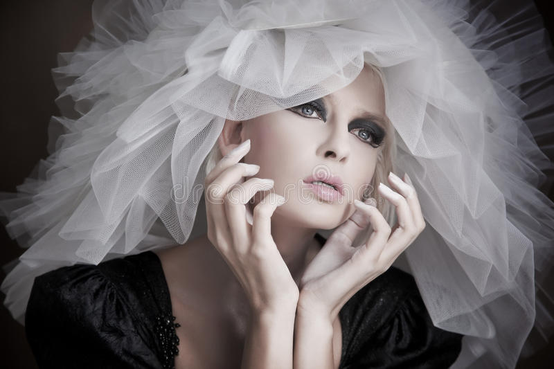 Download Young Beauty Wearing White Hat Stock Photo - Image: 17985692
