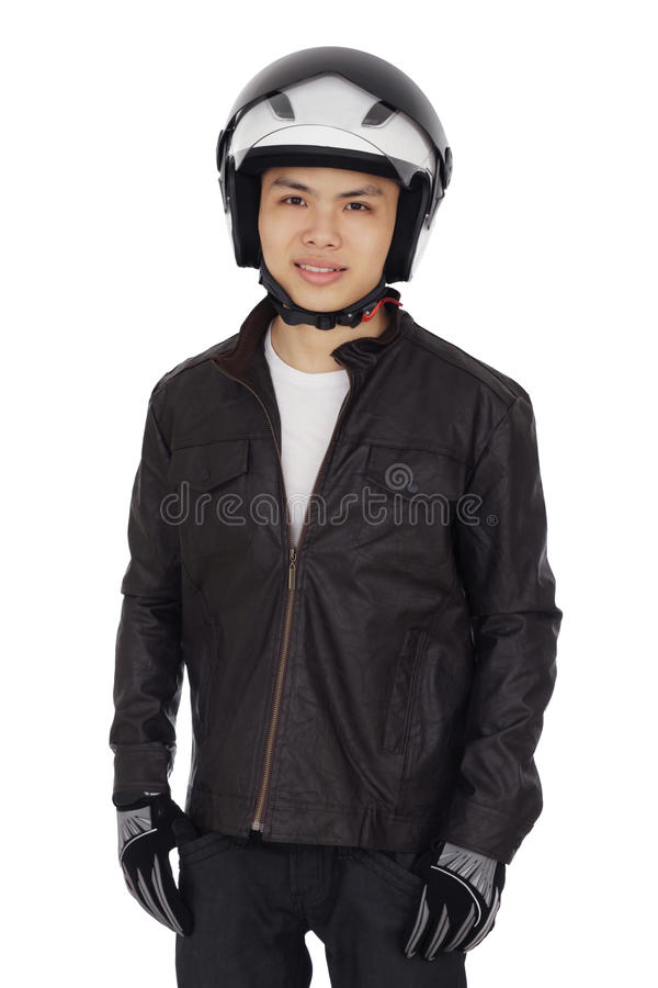 Young Biker stock image