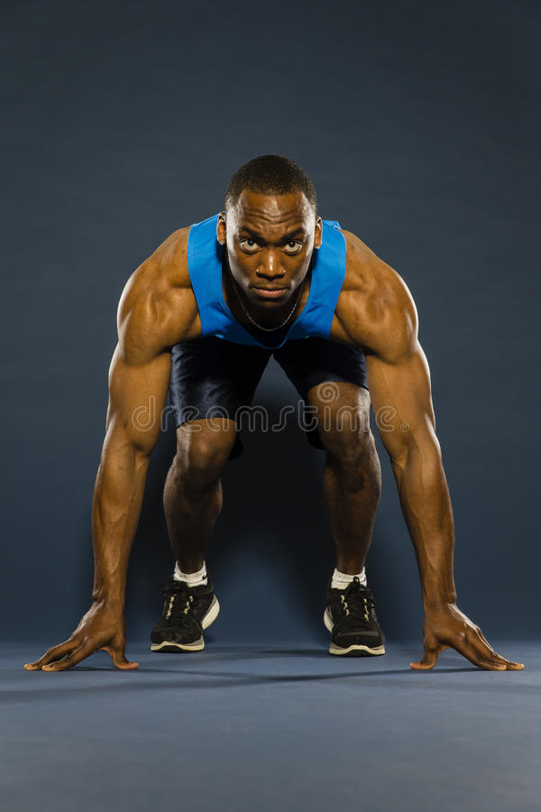 Young Athlete Running royalty free stock photos