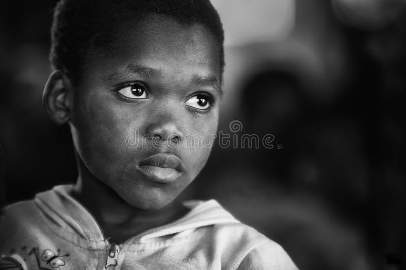 Young black boy stock photography