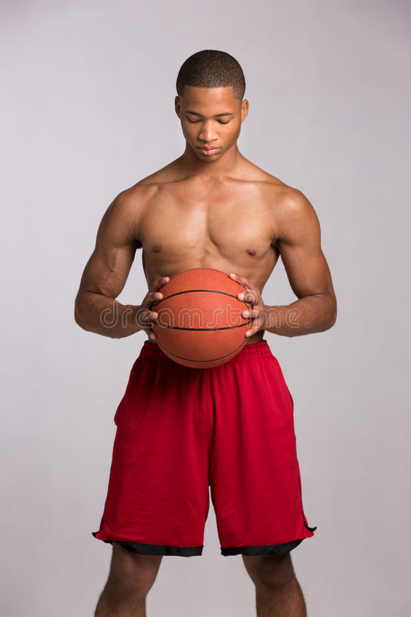 Download Young Black College Student Holding Basket Ball Stock Photo - Image of healthy, black: 27433088