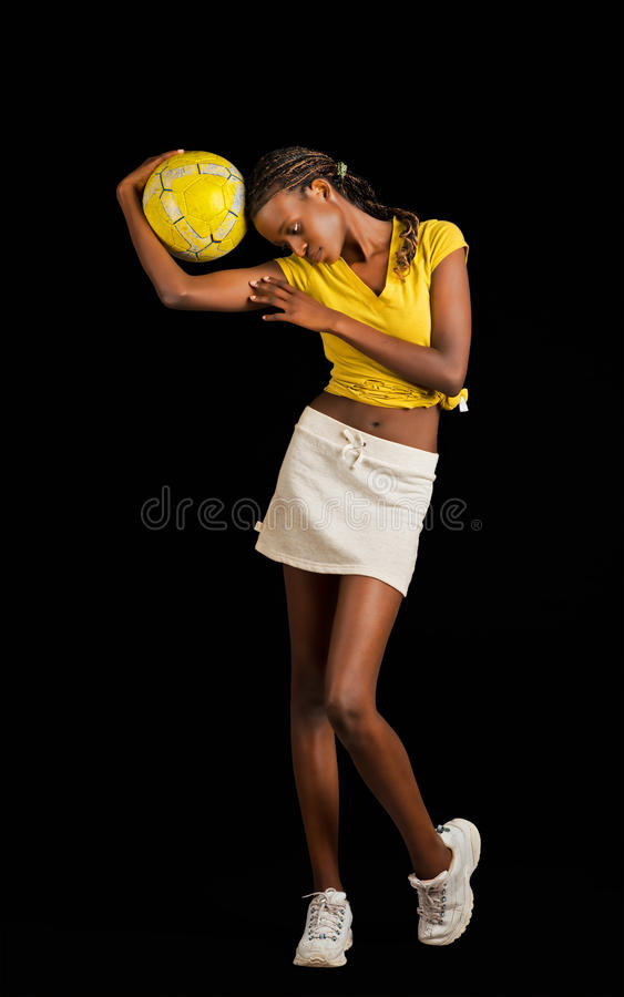Download Young Black Female Soccer Player Stock Image - Image: 25397481