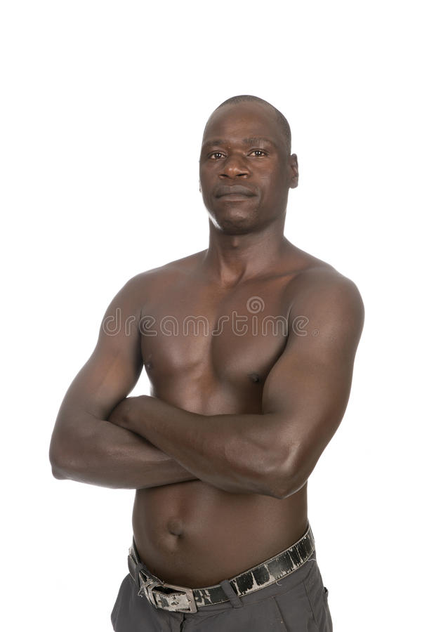 A black man body naked