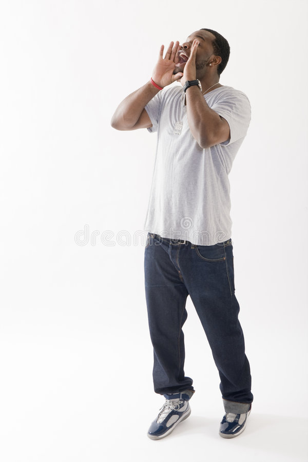 Young Black Man Shouting Stock Images