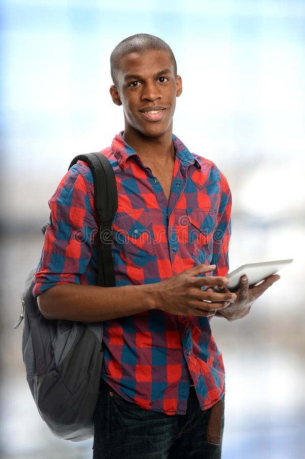 Young black student royalty free stock photo