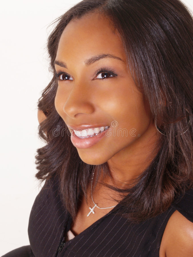 Young Black Woman Portrait Smiling royalty free stock photos