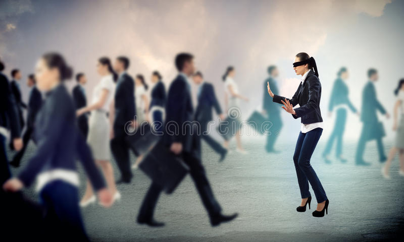 Download Young blindfolded woman stock photo. Image of case, fear - 31328854