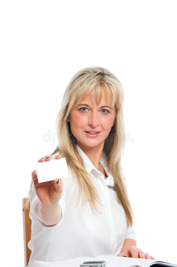 Free Young Blond Businesswoman Is Stock Image - 12882971