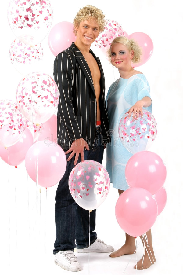 Young blond couple in love royalty free stock photography
