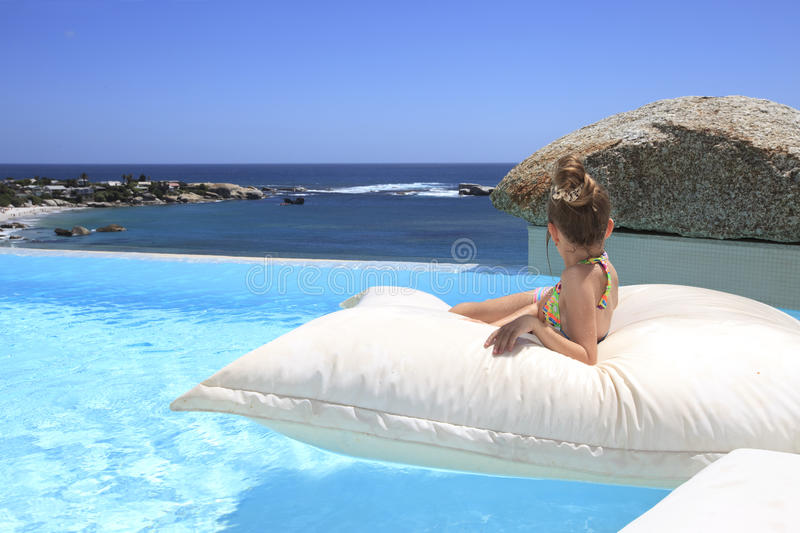 Download Young Blond Little Girl At Swimming Pool Stock Image - Image: 22692387