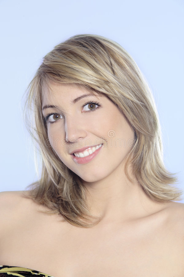 Young blond smiling woman royalty free stock photography
