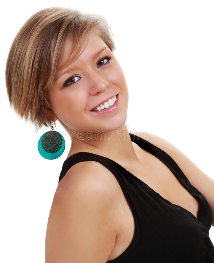 Young blond woman stock photo