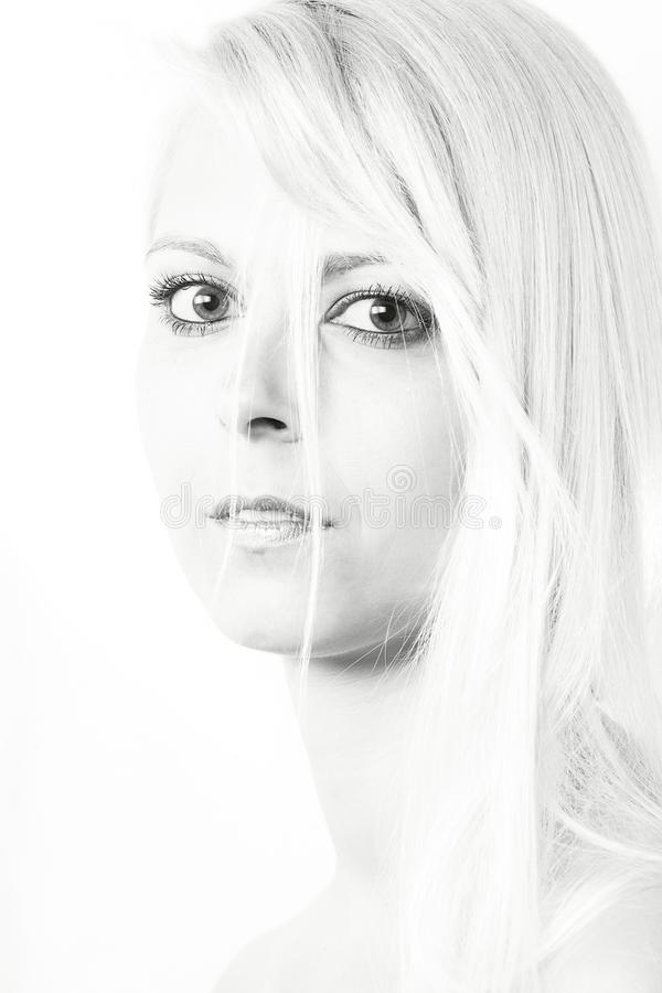 Download Young blond woman stock photo. Image of thoughtful, looking - 24740986