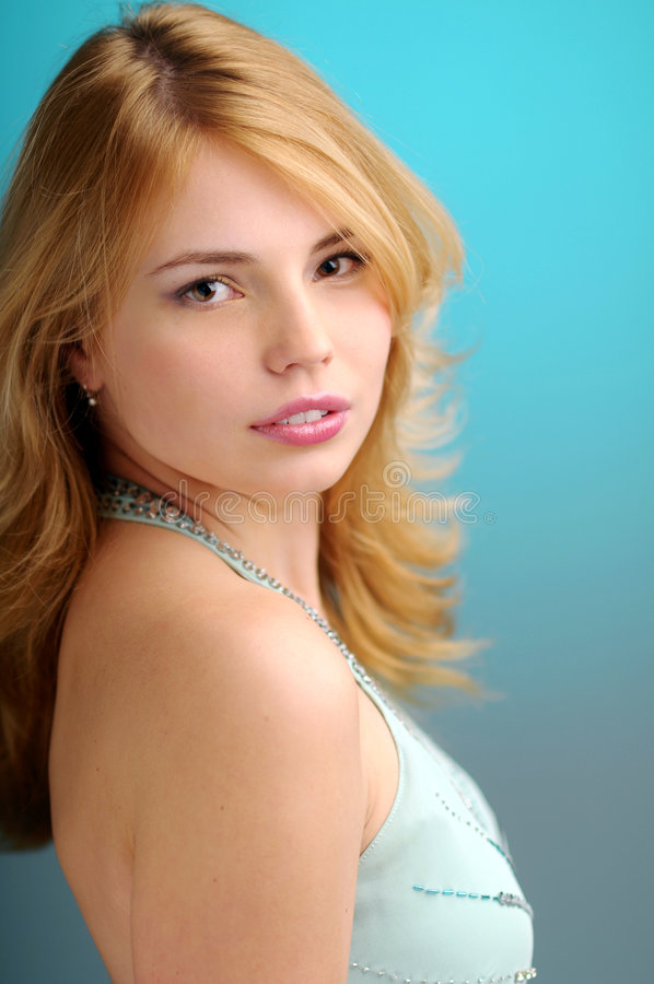 Young blond woman stock photos