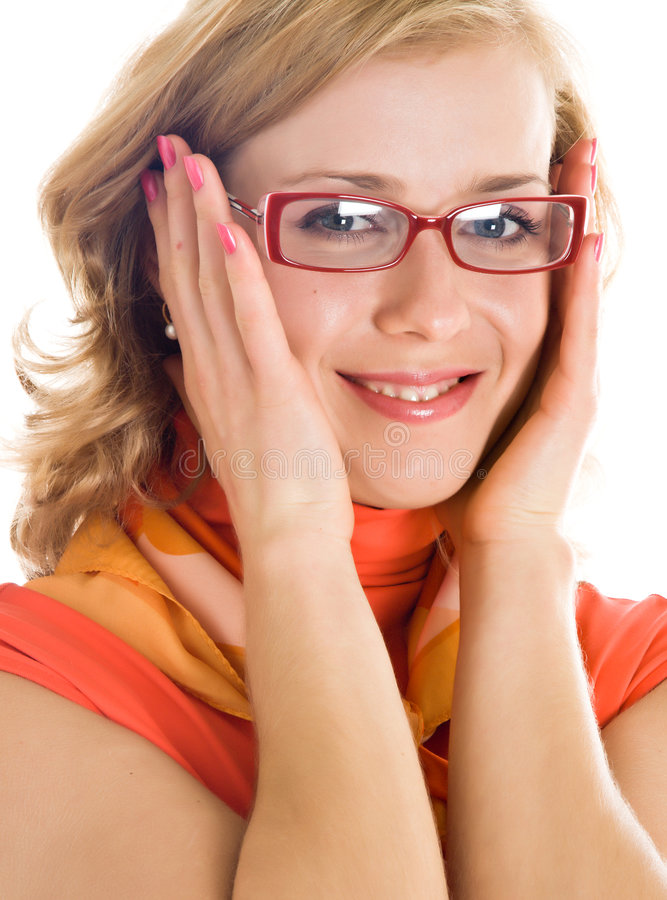 Download Young Blond Woman With Glasses In Hand Stock Images - Image: 8735464