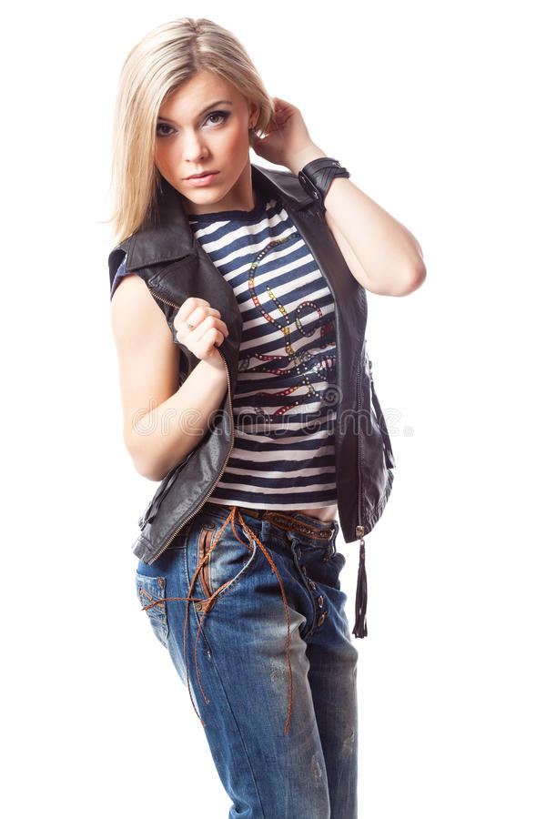 Download Young blond woman stock photo. Image of isolated, business - 31499806