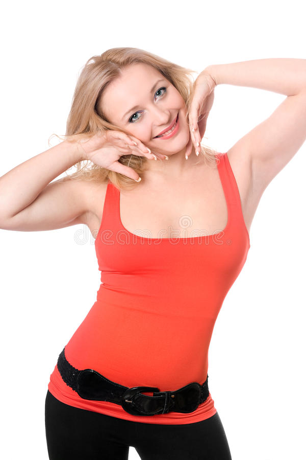 Download Young blond woman smiling stock photo. Image of girl - 17706648