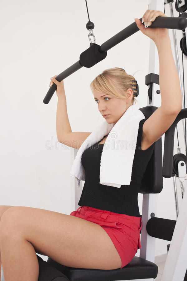 Free Young Blond Woman Workout In Gym Royalty Free Stock Photo - 10359165