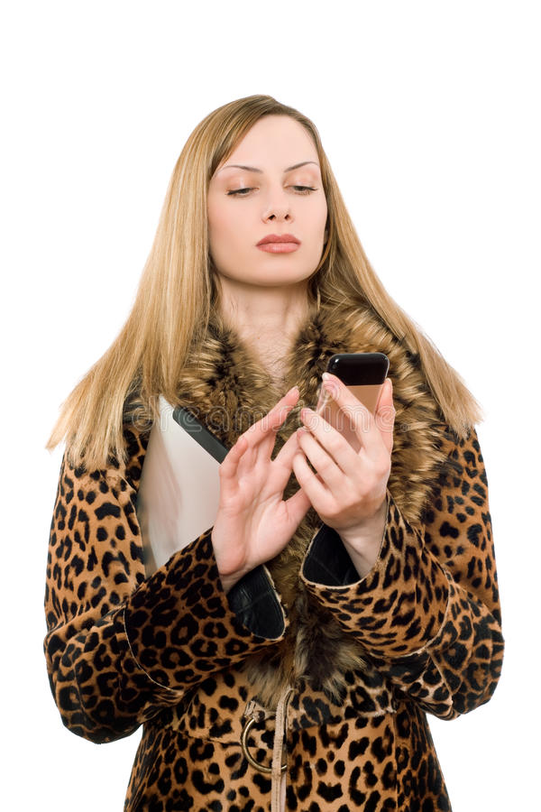Download Young Blonde Calling Royalty Free Stock Photos - Image: 24091628