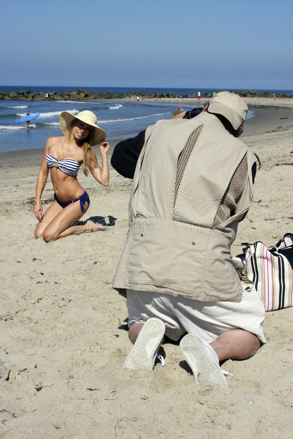 Free Young Blonde Female Model Photographed On Beach Royalty Free Stock Photography - 25583397