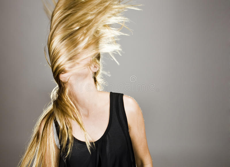 Download Young blonde girl stock photo. Image of sensuality, wind - 14842510