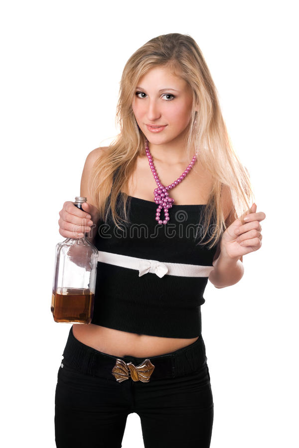 Download Young Blonde Holding A Bottle Royalty Free Stock Image - Image: 16898226