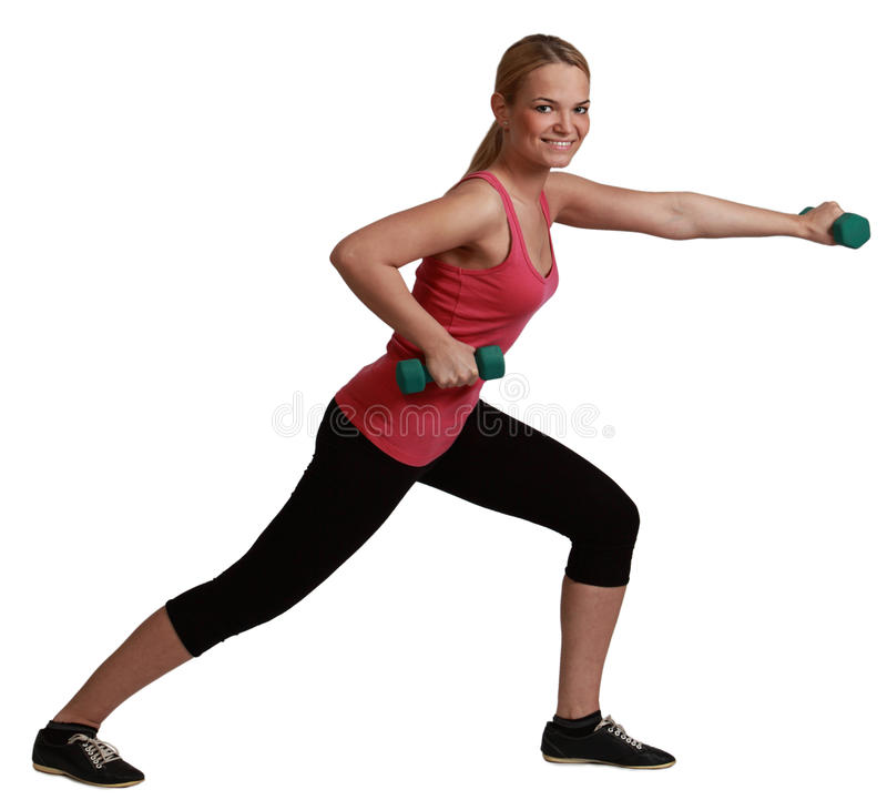 Download Woman with Dumbbells stock image. Image of profile, muscle - 30315695