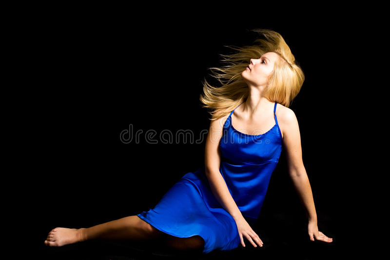 Young blondie girl royalty free stock photo