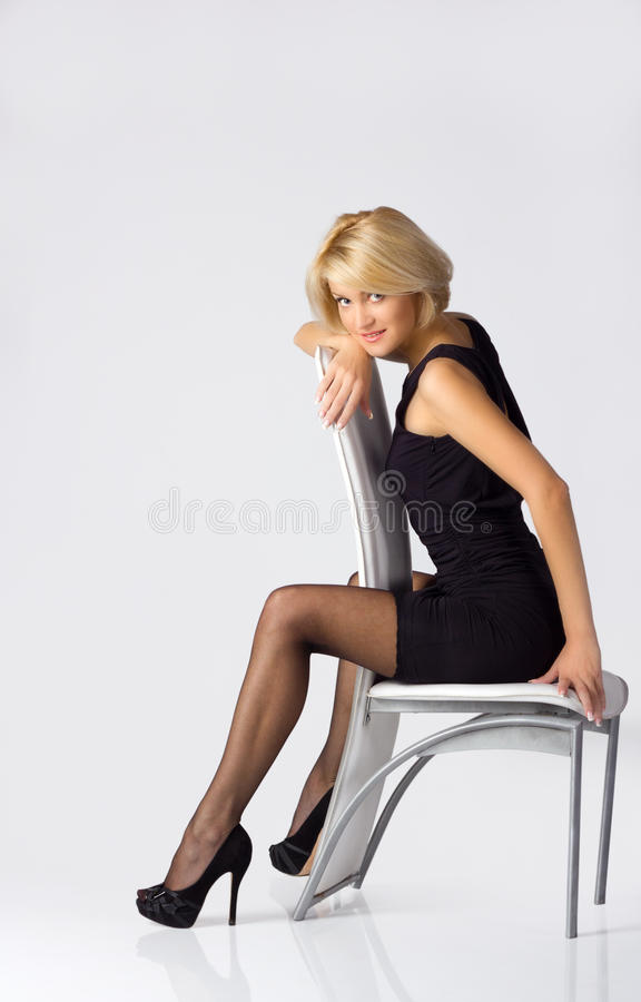 Young blondie girl stock photo