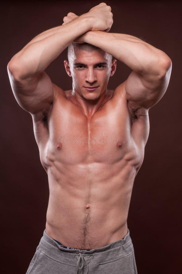 Young bodybuilder stock photo