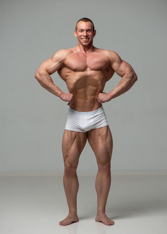 Young bodybuilder royalty free stock photo