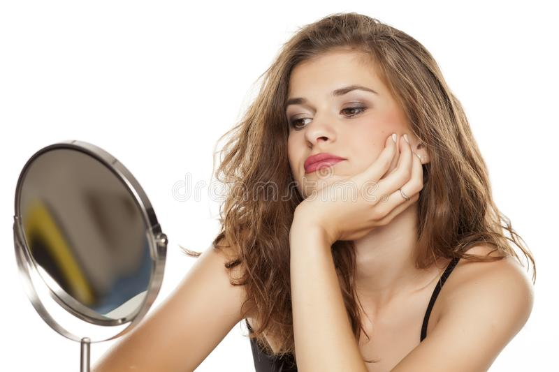 Young bored woman stock image