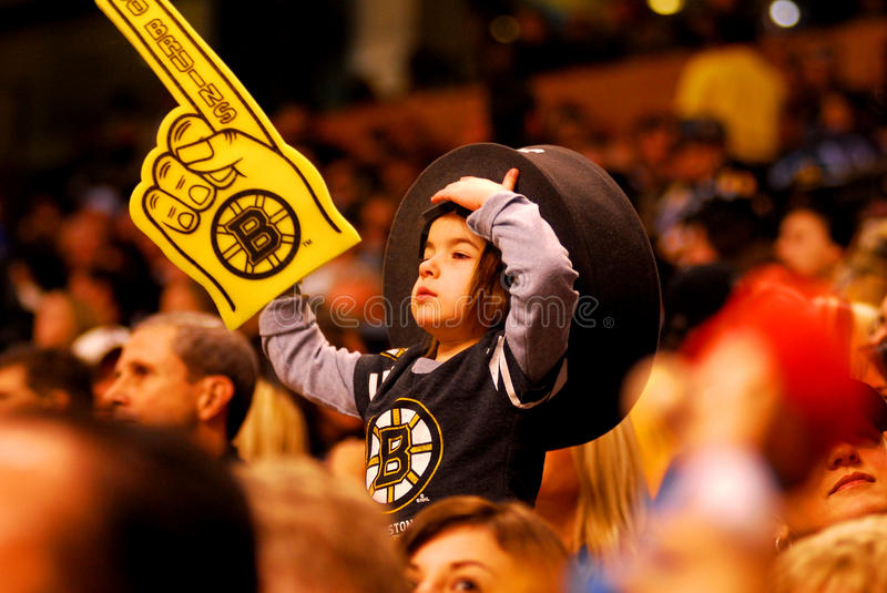 Young Boston Bruins Fan. Editorial Photography