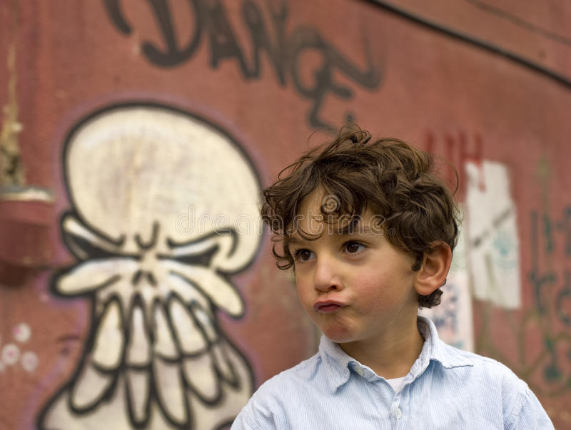 Download Young boy stock photo. Image of design, graffiti, color - 12410020