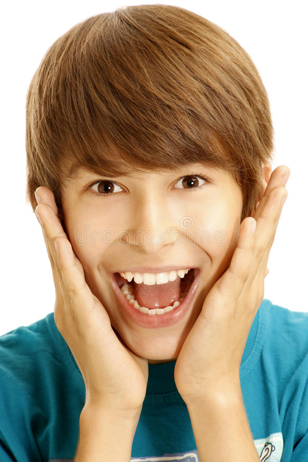 Download Young boy stock photo. Image of amazed, males, cheerful - 25875614