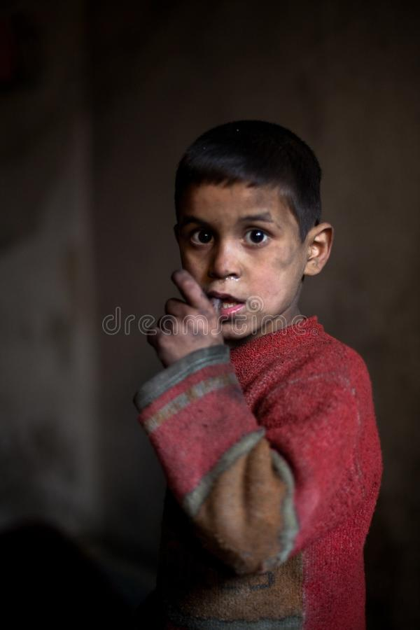 Young boy, Aleppo, Syria. royalty free stock images