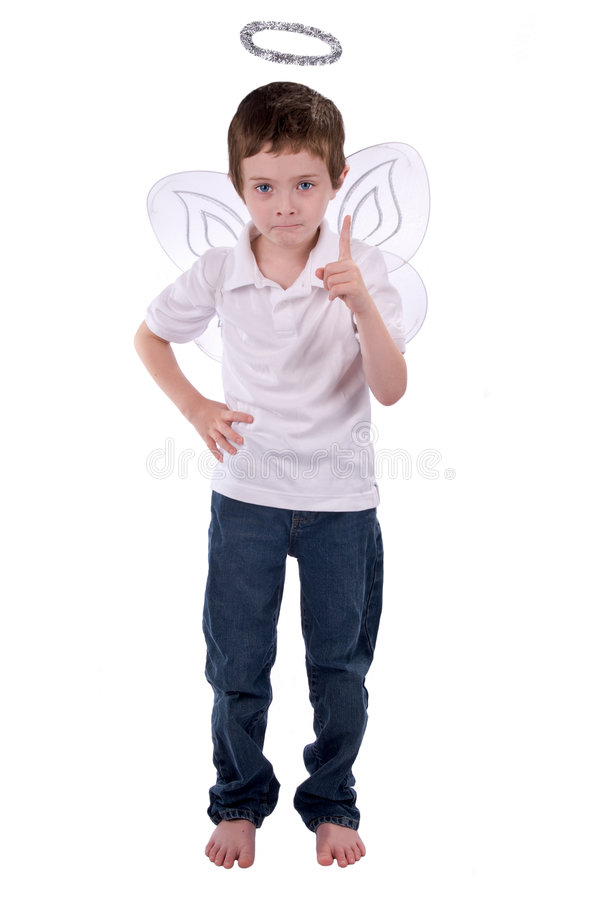 Download Young Boy In An Angel Costume Stock Image - Image: 3571275